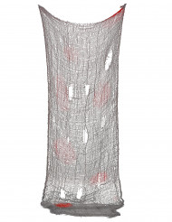 Blutiges Deko-Tuch Halloween-Partydeko rot-grau