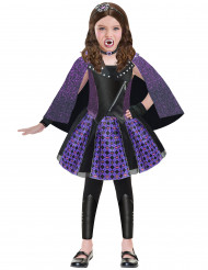 Chica Vampiro Halloween-Kinderkostüm lila-schwarz