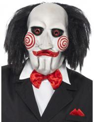 Saw™ Halloween Latexmaske für Erwachsene weiss-rot-schwarz