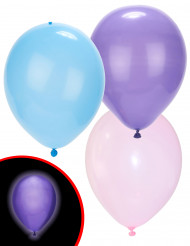 Illooms LED-Luftballons Party-Deko 5er-Set Mädchen gemischt bunt 23cm