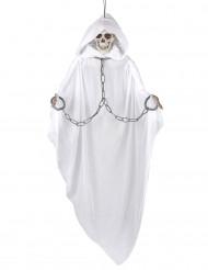 Leuchtendes Skelett Halloween-Deko weiss