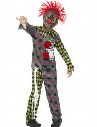 Zombie-Clown Kinderkostüm bunt