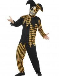 Teuflischer Harlekin Halloween Kostüm für Herren gold-schwarz