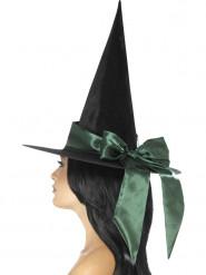 Hexenhut mit Schleife Halloween Kostüm-Accessoire schwarz-grün
