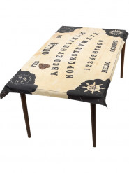 Halloween Tischdecke Ouija-Brett mit Glasuntersetzer beige-schwarz