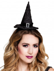 Mini Hexenhut für Damen schwarz