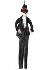 Skelett-Bräutigam Halloween-Hängedeko schwarz-weiss-rot 90cm