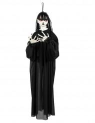 Vampirische Geisterfrau Halloween-Hängedeko schwarz-weiss 90cm
