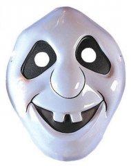 Lachender Geist Halloween-Kindermaske weiss-schwarz