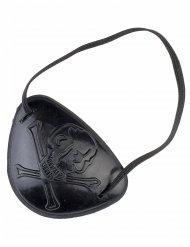 Pirat Augenklappe Totenkopf schwarz 7x6cm