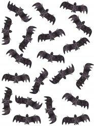 Beutel voller Fledermäuse Halloween-Deko 20 Stück schwarz 13cm