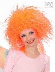 Wuschelkopf Kinder-Perücke neon-orange