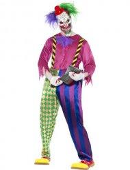Killer Clown Psycho Halloween-Herrenkostüm bunt