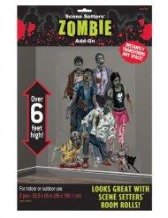 Zombie Halloween Wanddeko 1,7x3,3m