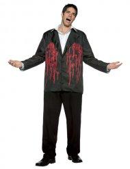 Blutiges Jackett mit Einschusslöchern Halloween-Kostüm schwarz-rot