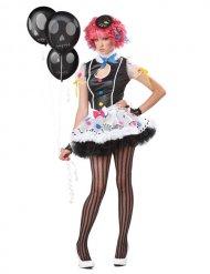 Sassie Clown Halloween Damenkostüm schwarz-weiss