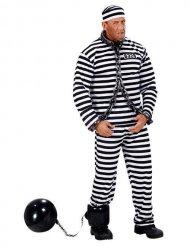 Aufblasbare Fußkugel Gefangenenkostüm-Accessoire schwarz