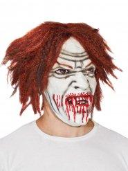 Vampir Dracula Maske Latexmaske Halloween weiss-rot-braun