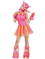 Sexy Monster Damenkostüm orange-pink