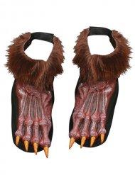 Werwolf Halloween-Schuhüberzieher braun