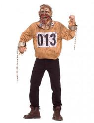 Zombie-Sträfling Halloween-Kostüm braun-grau