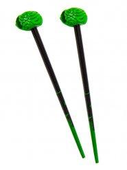 Kreepsville Gothic Haarstäbchen Gehirn schwarz-grün