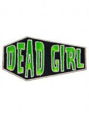 Kreepsville Gothic Aufnäher Sarg Dead Girl grün-schwarz