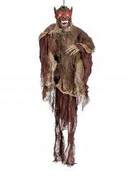Animierter Werwolf Halloween-Hängefigur braun-grau 85x60cm