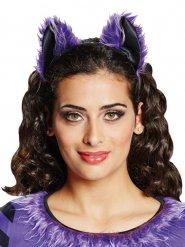 Fledermaus-Ohren Halloween-Haarreif schwarz-lila