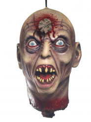 Gepfählter Kopf Halloween Party-Deko hautfarben-grau 30cm