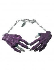 Kreepsville Gothic Halskette Zombiehände lila