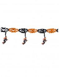 Hexen-Girlande Halloween Party-Deko orange-schwarz 300x40cm