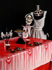 Blutende Halloween Horror Tischdecke rot-weiss 180x130cm