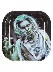 Zombie Pappteller Set Halloween Party-Deko 6 Stück bunt 25x25cm