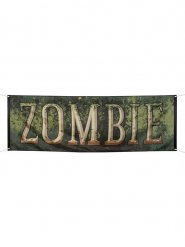 Zombie Banner Halloween Party-Deko grün 74x220cm