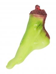 Blutiger Zombie Horror-Fuss Leichenteil Halloween Party-Deko grün-rot 25x7x15cm