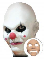 Horror Clown Halloween Latex-Applikation beige