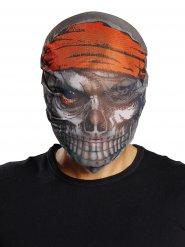Zombie Pirat Halloween Maske grau-rot
