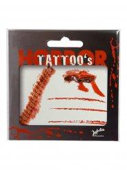 Blutige Narben Tattoos Halloween rot