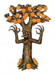 Knorriger Grusel-Baum Halloween-Deko Pappfigur grau 1,8x1,2m