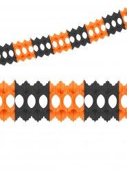 Papier-Girlande Löcher Party-Deko orange-schwarz 360x10cm