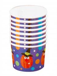 Kürbis Dessert Pappschälchen Halloween Party-Deko 8 Stück bunt 5,5x8,5cm