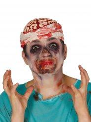 Zugewachsener Mund Halloween Latex-Applikation beige