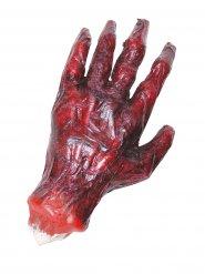 Abgehackte Leichen-Hand mit Brandblasen rot 23x13x6cm