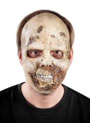 Verwesender Zombie Halloween Latex-Maske Untoten-Monster beige-braun