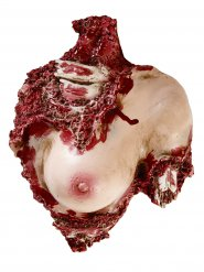 Zerstückelter Frauenoberkörper Halloween Party-Deko haut-rot 31x23x12cm
