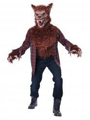 Horror-Werwolf Halloweenkostüm braun-rot