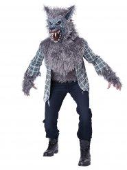 Horror-Werwolf Halloweenkostüm grau-weiss