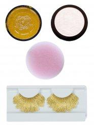 Engel Schmink-Set Make-up 4-teilig gold-weiss