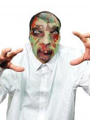 Schaurige Zombie Maske Untoter Halloween bunt